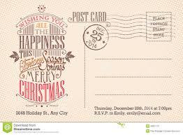 vintage merry christmas holiday postcard stock vector image