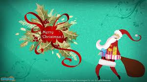 merry santa desktop wallpapers for mocomi