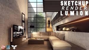 sketchup render lumion 6 46 living room 4 youtube