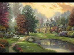 Thomas Kinkade Clocktower Cottage by Lakeside Manor By Thomas Kinkade Youtube