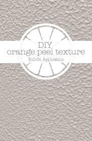 diy orange peel texture on house and home