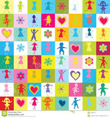 kids wrapping paper seamless wrapping paper with kids stock illustration image 14892472