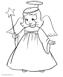 christmas angel coloring pages 013