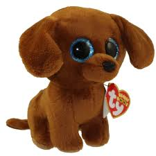 ty beanie boos dougie dachshund glitter eyes regular size
