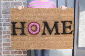 doormat funny diy donut door mat let u0027s mingle blog