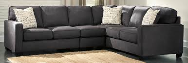 Charcoal Living Room Furniture Decorating Maier Ashley Furniture Sectional Sofa In Charcoal For
