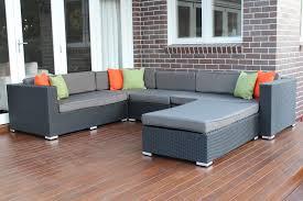 exterior patio design with pergo flooring and black