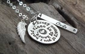 personalized remembrance jewelry angel husband loss of husband memorial necklace sterling