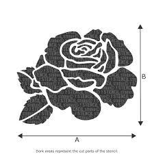 Rose Flower Design 25 Best Rose Stencil Ideas On Pinterest Stencils Rose Design