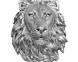 silver lion statue silver lion etsy