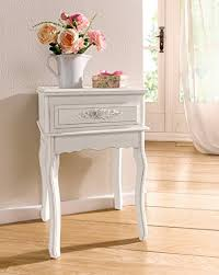 amazon com antique white shabby chic wood console table w