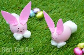 Lawn Easter Egg Decorations by Egg Decorating Easter Bunny Craft Red Ted Art U0027s Blog