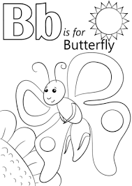 letter b is for butterfly coloring page free printable coloring