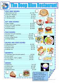 menu cuisine collective 56 free esl menu worksheets