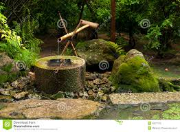 japanese water bamboo fountain stock photo image 48277072