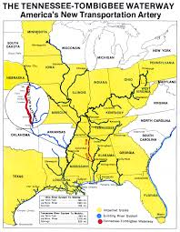 tombigbee waterway map turning a waterway into an economic lifeline site selection