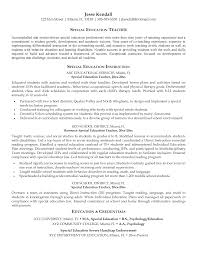 Teacher Assistant Resume Sample by Special Education Resume Free Resume Example And Writing Download