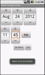 how to set alarm on android setting up alarm using alarmmanager and waking up screen and