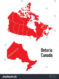 Map Of Ontario Map Ontario Canada Stock Vector 592019339 Shutterstock