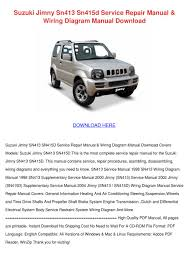lexus gs430 workshop manual suzuki jimny sn413 sn415d service repair manu by charissa duskin