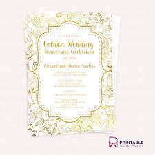 free sle wedding invitations free pdf template golden wedding anniversary invitation template
