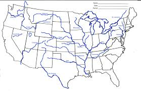 us map states not labeled rivers in us map labeled black and white map of us rivers not