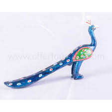 buy clay set of 3 peacock showpieces for home decor online tumree