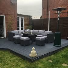 Garden Furniture Ideas 9 Seater Rattan Garden Furniture Grey Decking Garden Makeover