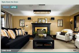 Great Small Living Room Designs By Colin  Justin Yellow Black - Gold wall color living room