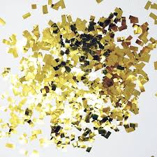 gold mylar tissue paper premium shredded squares tissue paper party table confetti 50