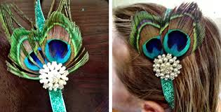 peacock headband diy peacock feather headband pack by stacey