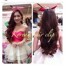 harga hair clip curly hair clip pink 65 cm curly lurus hairclip 65cm elevenia