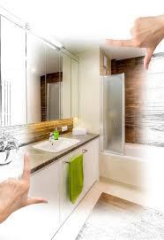 Custom Bathroom Designs Female Hands Framing Custom Bathroom Design Stock Illustration