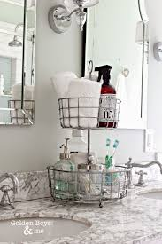 Bathroom Countertop Storage Ideas 10 Pretty Ways To Organize With Baskets Organizing 30th And