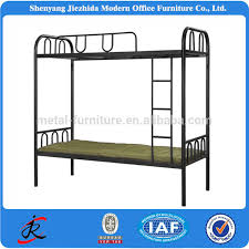 China High Quality Army Iron Bed Home Hostels Army Dorm Twin - Double loft bunk beds