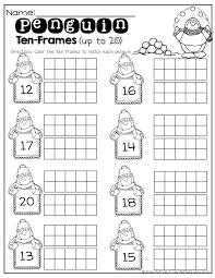 penguin writing paper penguin ten frames up to 20 kinderland collaborative penguin ten frames up to 20