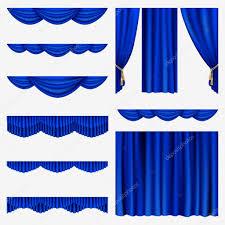 Blue Curtains Blue Curtains U2014 Stock Vector Len Pri 20141655