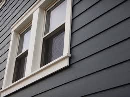 this royal celect siding around the window with azek trim or pvc