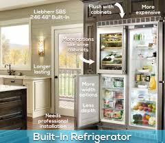 Built In Refrigerator Cabinets Blog Freestanding Vs Built In Refrigerators What U0027s The