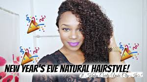 fun new year u0027s eve natural hairstyle ft curly yaki clip