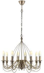 vas birdcage gold 8 lamp pendant ceiling light departments diy