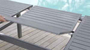 table de jardin haut de gamme table de jardin extensible azua hespéride youtube