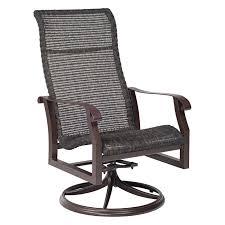 Woodard Cortland Cushion Patio Furniture - woodard cortland cushion high back swivel rocker set of 2