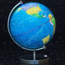 earth globe map led light world globe day constellation view l education