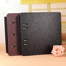 Handmade Leather Photo Albums 12 Inch Pu Leather 30 Black Paper Sheets Vintage Diy High Quality