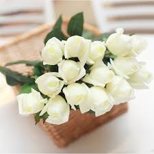 Home Decoration Flowers White Artificial Flowers Sheilahight Decorations