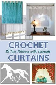 Cafe Curtain Pattern New Cafe Curtain Crochet Pattern From Kitchen Crochet Book No