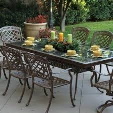 Solid Cast Aluminum Patio Furniture by Granite Patio Tables Foter
