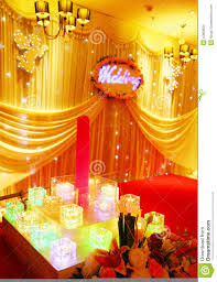 wedding stage decoration stock illustration image of candle