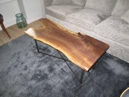 live edge walnut coffee table handmade live edge black walnut coffee table by iron boar metal